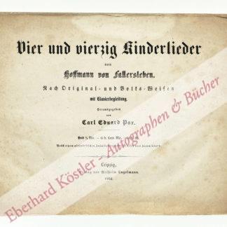 Hoffmann von Fallersleben, August Heinrich, Schriftsteller und Germanist (1798-1874).