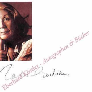 Gordimer, Nadine, Schriftstellerin und Nobelpreisträgerin (1923-2014).