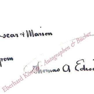 Edison, Thomas Alva (1847-1931) -  Dyer, Frank Lewis, and T. C. Martin,,  .