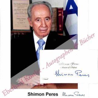 Peres, Shimon, Politiker und Friedensnobelpreisträger (geb. 1923).