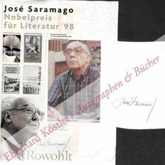 Saramango, José, Schriftsteller und Nobelpreisträger (1922-2010).