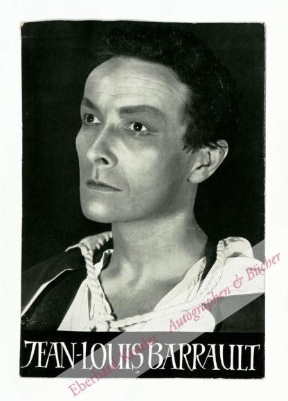 Barrault, Jean-Louis, Schauspieler, Pantomime und Regisseur (1910-1994).