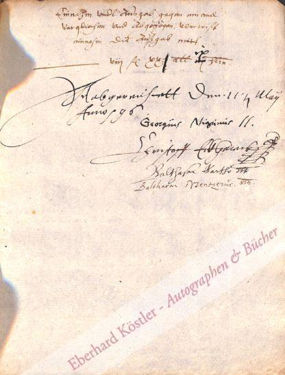 Nigrinus (eigentlich Schwartz), Georg, Theologe und Satiriker (1530-1602).