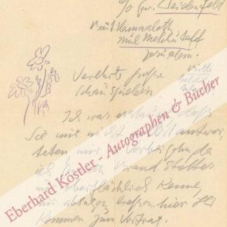 Lasker-Schüler, Else, Schriftstellerin (1869-1945).