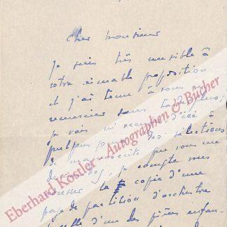 Inghelbrecht, Désiré-Émile, Dirigent und Komponist (1880-1965).