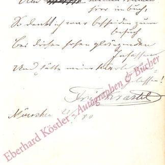 Krastel, Friedrich, Schauspieler (1839-1908).