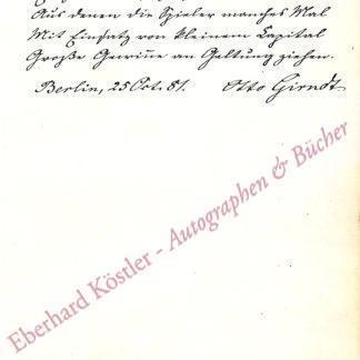 Girndt, Otto, Schriftsteller (1835-1911).