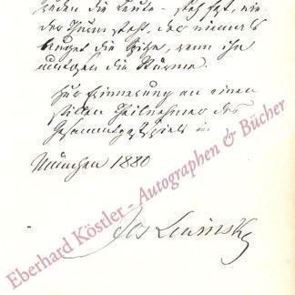Lewinsky, Josef, Schauspieler (1835-1907).