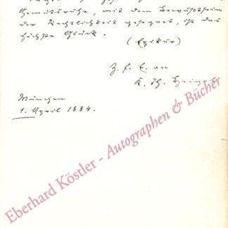 Heigel, Karl Theodor von, Historiker und Archivar (1842-1915).