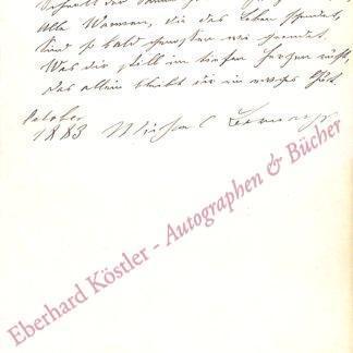 Bernays, Michael, Philologe, Literaturhistoriker und Goetheforscher (1834-1897).