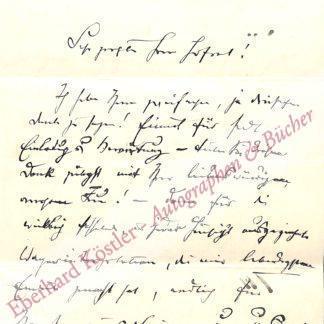 Korngold, Julius, Musikschriftsteller (1860-1945).