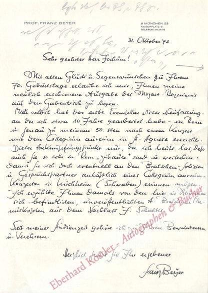 Beyer, Franz, Bratschist (geb. 1922).