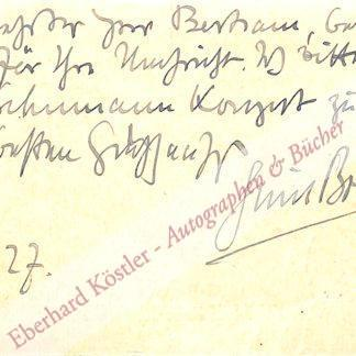 Bohnke, Emil, Komponist und Bratschist (1888-1928).