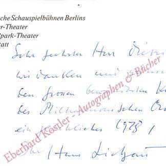 Lietzau, Hans, Schauspieler und Regisseur (1913-1991).