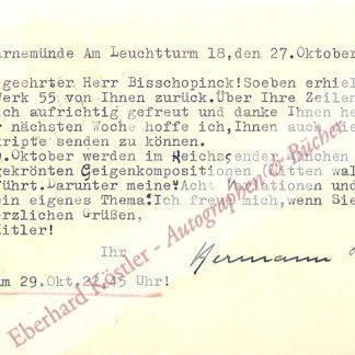 Lilge, Hermann, Komponist (1870-1955).