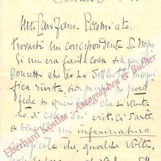 Leva, Enrico de, Liedkomponist (1867-1955).