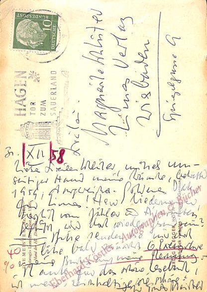 Meister, Ernst, Schriftsteller (1911-1979).