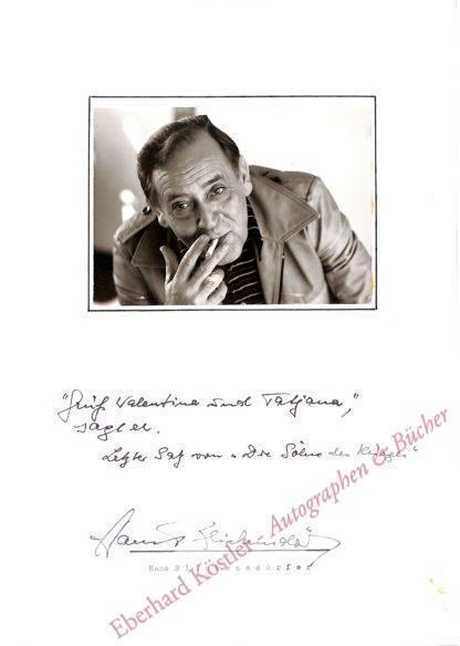 Blickensdörfer, Hans, Schriftsteller (1923-1997).