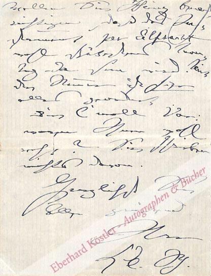 Schumann, Clara, Pianistin und Komponistin (1819-1896).