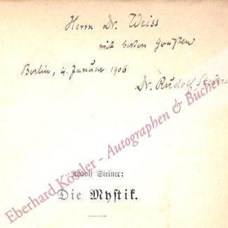 Steiner, Rudolf, Begründer der Anthroposophie (1861-1925).