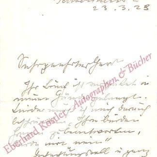 Barlach, Ernst, Bildhauer, Graphiker und Schriftsteller (1870-1938).