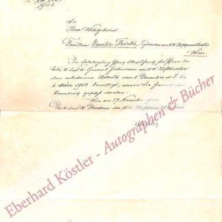 Mahler, Gustav, Komponist und Dirigent (1860-1911).