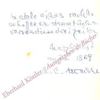 Artmann, H. C. (Hans Carl), Schriftsteller (1921-2000).