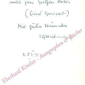 Wickenburg, Erik (bis 1919 Graf), Schriftsteller (1903-1998).