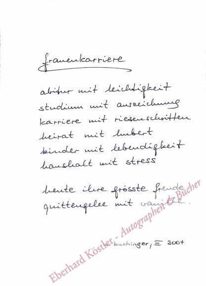 Buchinger, Wolf, Schriftsteller (geb. 1943).