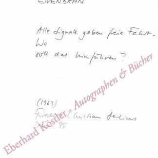 Delius, Friedrich Christian, Schriftsteller (geb. 1943).