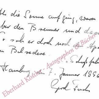 Fuchs, Gerd, Schriftsteller (geb. 1932).