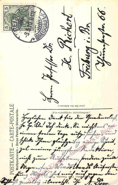 Dove, Alfred, Historiker und Publizist (1844-1916).