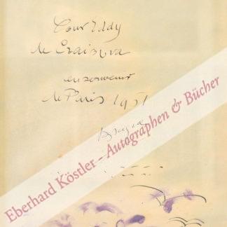 Braque, Georges, Maler, Mitbegründer des Kubismus (1882-1963).