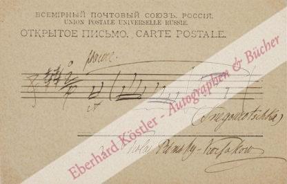 Rimski-Korsakow, Nikolai, Komponist (1844-1908).