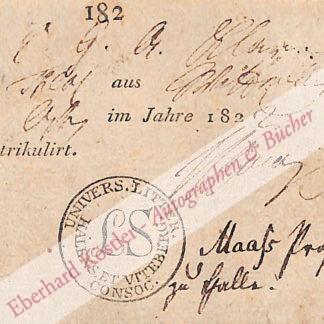 Maaß, Johann Gebhard, Theologe und Psychologe (1766-1823).