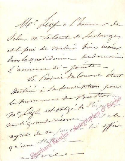 Liszt, Franz, Komponist, Schwiegervater Richard Wagners (1811-1886).