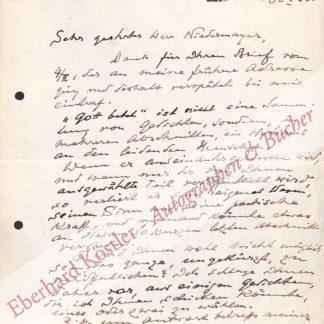 Lichnowsky, Mechthilde von, Schriftstellerin (1879-1958).