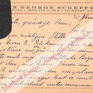 Scheffauer, Hermann George, Schriftsteller (1878-1927).