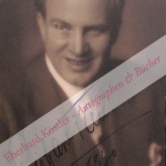 Tauber, Richard, Sänger (1891-1948).
