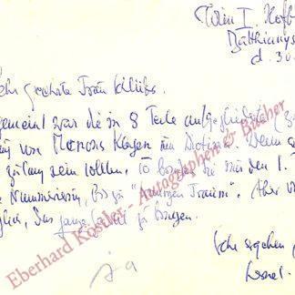 Lernet-Holenia, Alexander, Schriftsteller (1897-1976).