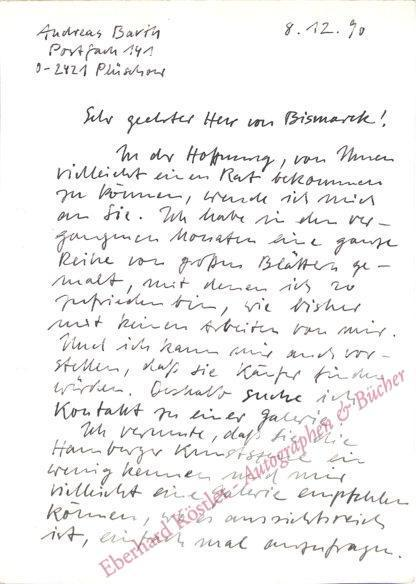 Barth, Andreas, Maler und Graphiker (geb. 1956).