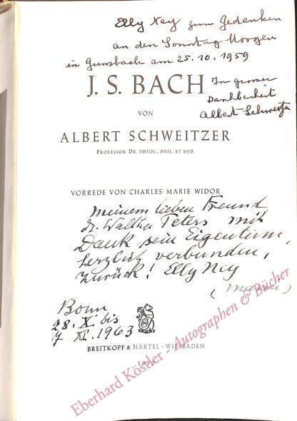 Schweitzer, Albert, Mediziner und Nobelpreisträger (1875-1965).