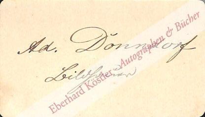 Donndorf, Adolf von, Bildhauer (1835-1916).
