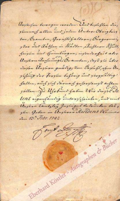 Weimar -  Ernst August I.,, Herzog von Sachsen-Weimar-Eisenach (1688-1748).
