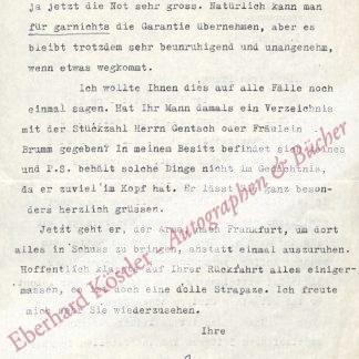 """Suhrkamp-Seidel, Annemarie """"Mirl"""", Schauspielerin (1895-1959)."""