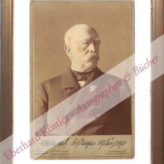 Bismarck, Otto Fürst von, Reichskanzler (1815-1898).