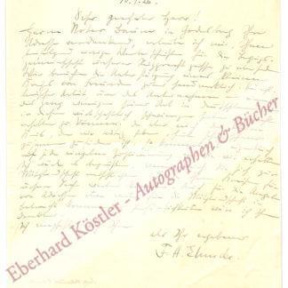 Ehmcke, Fritz Helmuth, Graphiker und Buchgestalter (1878-1965).