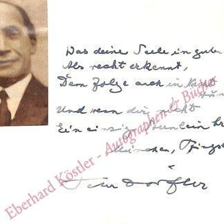 Dörfler, Peter, Schriftsteller und Priester (1878-1955).