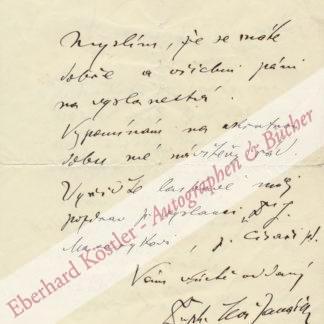 Janácek, Leos, Komponist (1854-1928).