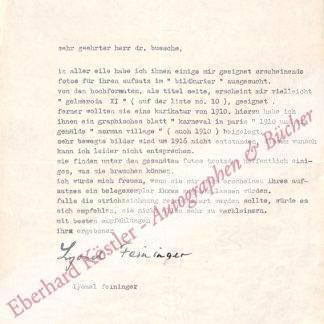 Feininger, Lyonel, Maler (1871-1956).